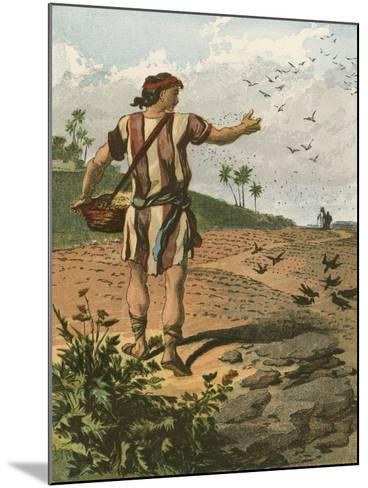 The Sower-English School-Mounted Giclee Print
