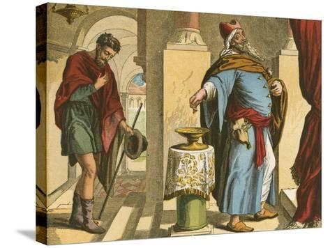 The Pharisee and the Publican-English School-Stretched Canvas Print