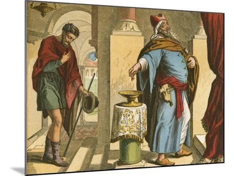 The Pharisee and the Publican-English School-Mounted Giclee Print