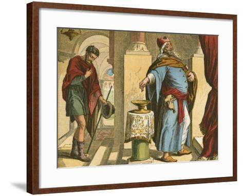 The Pharisee and the Publican-English School-Framed Art Print