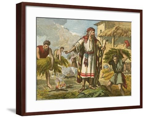 The Wheat and the Tares-English School-Framed Art Print