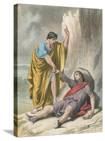 Evangelist Raises Up Christain-H. Castelli-Stretched Canvas Print
