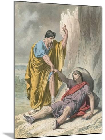 Evangelist Raises Up Christain-H. Castelli-Mounted Giclee Print