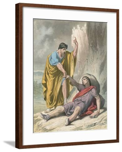 Evangelist Raises Up Christain-H. Castelli-Framed Art Print