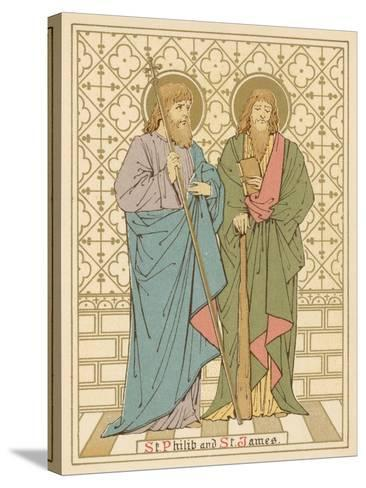 St Philip and St James-English School-Stretched Canvas Print