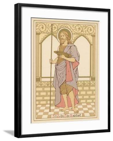 St John the Baptist-English School-Framed Art Print