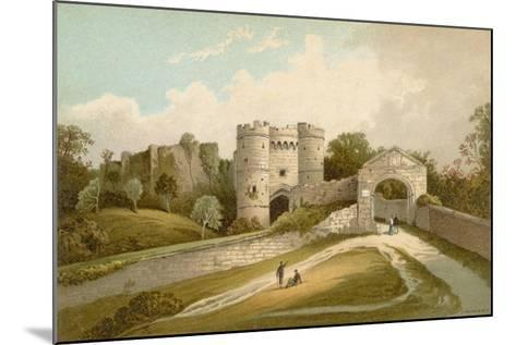 Carisbrooke Castle - Isle of Wight-English School-Mounted Giclee Print