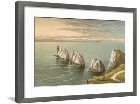 The Needles - Isle of Wight-English School-Framed Art Print