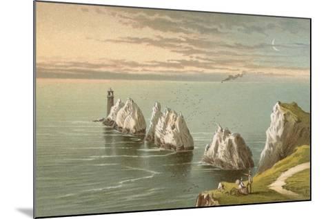The Needles - Isle of Wight-English School-Mounted Giclee Print