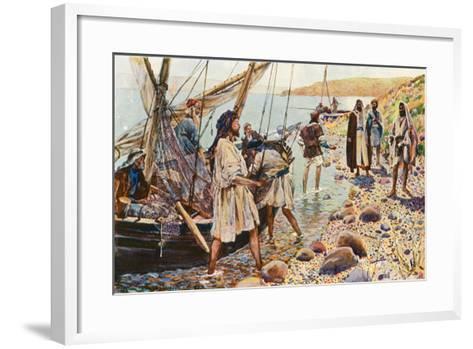 The Calling of Four Disciples-Corwin Knapp Linson-Framed Art Print