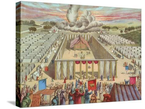 The Tabernacle in the Wilderness-English School-Stretched Canvas Print
