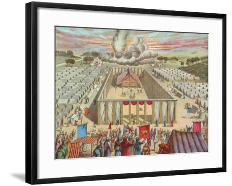 The Tabernacle in the Wilderness-English School-Framed Art Print