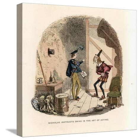Illustration for Nicholas Nickleby-Hablot Knight Browne-Stretched Canvas Print