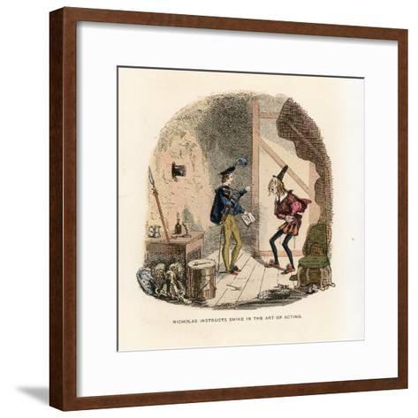 Illustration for Nicholas Nickleby-Hablot Knight Browne-Framed Art Print