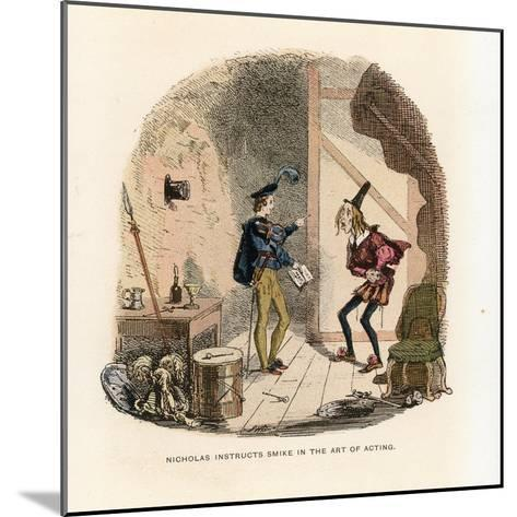 Illustration for Nicholas Nickleby-Hablot Knight Browne-Mounted Giclee Print