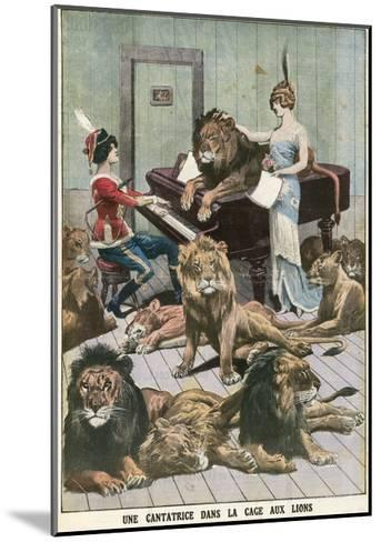 Opera Singer in a Lion Cage-French School-Mounted Giclee Print