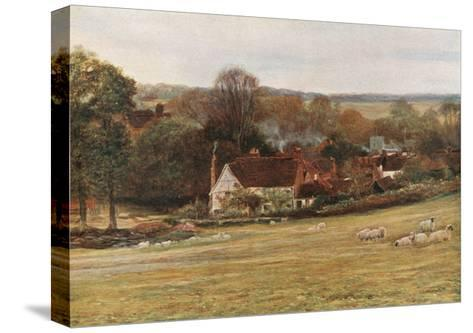 Milton's Cottage and Garden, Chalfont St Giles-Francis S. Walker-Stretched Canvas Print