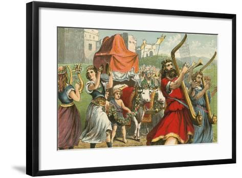 King David Fetching the Ark of the Covenant-English School-Framed Art Print