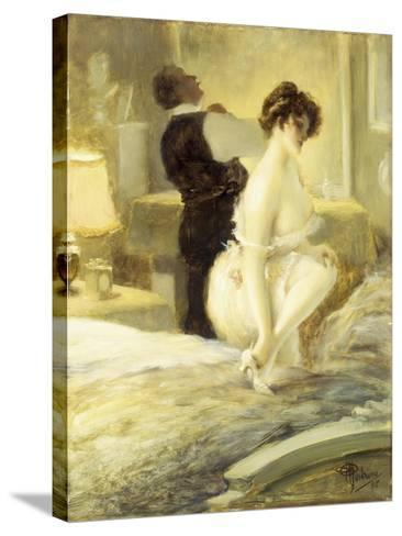 L'Intimite, 1906-Albert Guillaume-Stretched Canvas Print