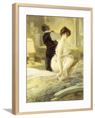 L'Intimite, 1906-Albert Guillaume-Framed Art Print