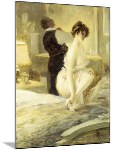 L'Intimite, 1906-Albert Guillaume-Mounted Giclee Print