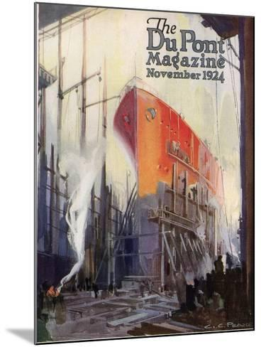 Ship Construction, Front Cover of the 'Dupont Magazine', November 1924-G. C. Pearce-Mounted Giclee Print