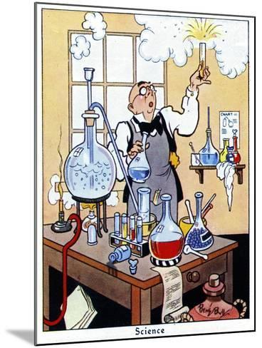 Science, 1936-René Bull-Mounted Giclee Print