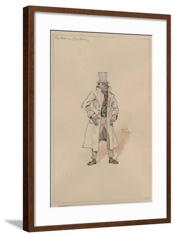 The Game Chicken, c.1920s-Joseph Clayton Clarke-Framed Art Print