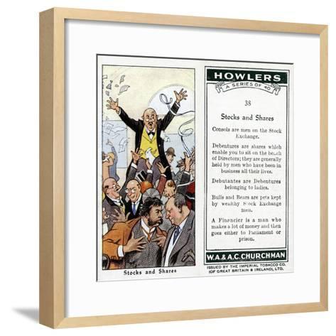 Stocks and Shares, 1936-René Bull-Framed Art Print