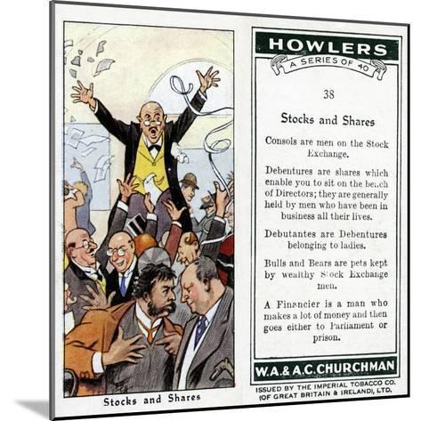 Stocks and Shares, 1936-René Bull-Mounted Giclee Print