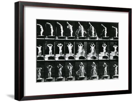Woman Pouring a Basin of Water over Her Head, Illustration from 'The Human -Eadweard Muybridge-Framed Art Print