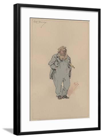 Captain Jack Bunsby, c.1920s-Joseph Clayton Clarke-Framed Art Print