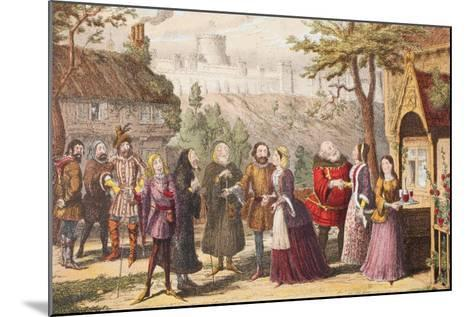 Sir John Falstaff on a Visit to His Friend Page at Windsor, Illustration from the Merry Wives of…-George Cruikshank-Mounted Giclee Print