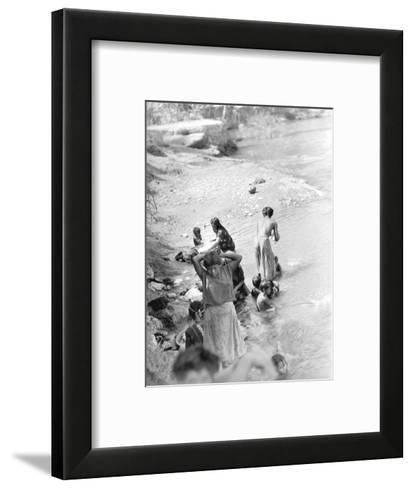 Washing at the River Near Tehuantepec, Mexico, 1929-Tina Modotti-Framed Art Print