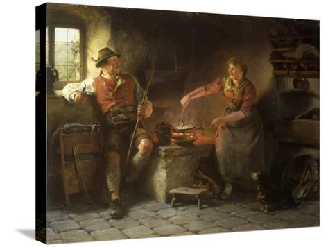 In the Kitchen, 1901-Hugo Wilhelm Kauffman-Stretched Canvas Print