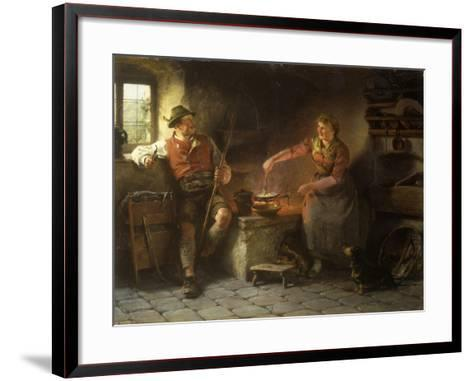 In the Kitchen, 1901-Hugo Wilhelm Kauffman-Framed Art Print