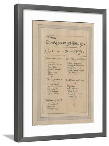 List of Characters, c.1920s-Joseph Clayton Clarke-Framed Art Print