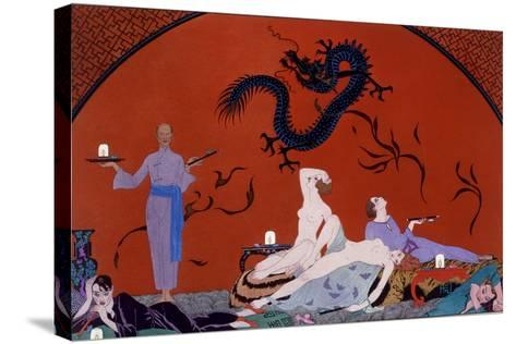 At the House of Pasotz, c.1921-Georges Barbier-Stretched Canvas Print