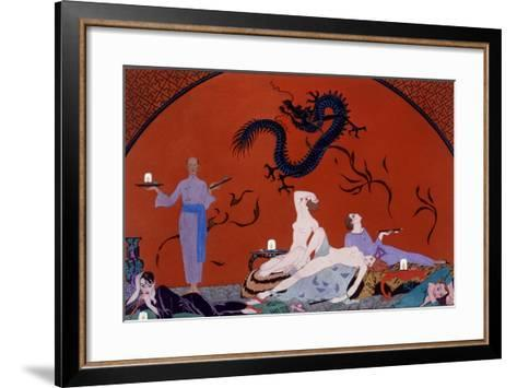 At the House of Pasotz, c.1921-Georges Barbier-Framed Art Print
