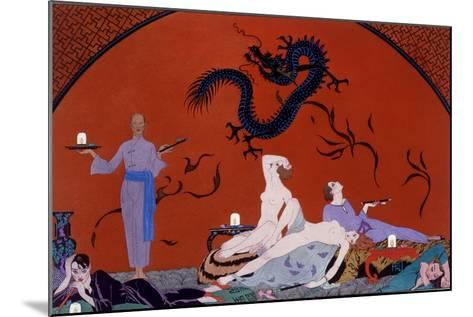 At the House of Pasotz, c.1921-Georges Barbier-Mounted Giclee Print