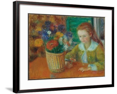 The Breakfast Porch, c.1920-William James Glackens-Framed Art Print