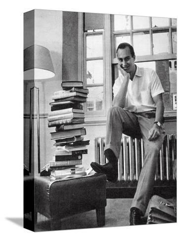 The Aga Khan While a Student at Harvard University, 1958--Stretched Canvas Print