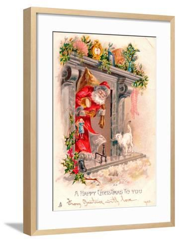 Christmas Postcard, 1903-English School-Framed Art Print