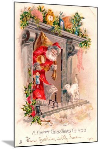 Christmas Postcard, 1903-English School-Mounted Giclee Print