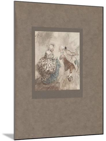 'Then Old Fezziwig Stood Out to Dance with Mrs. Fezziwig', 1915-Arthur Rackham-Mounted Giclee Print