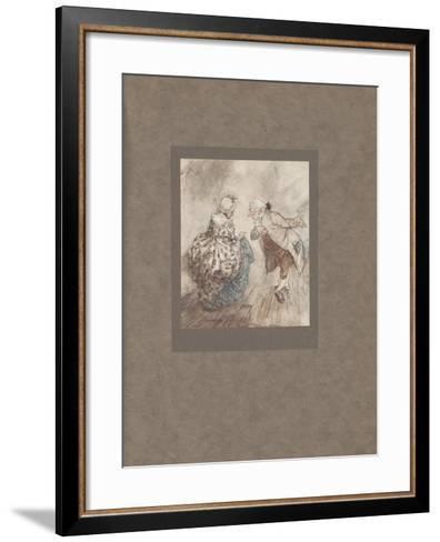 'Then Old Fezziwig Stood Out to Dance with Mrs. Fezziwig', 1915-Arthur Rackham-Framed Art Print