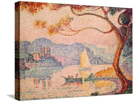 Antibes, Petit Port de Bacon, 1917-Paul Signac-Stretched Canvas Print