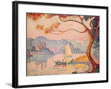 Antibes, Petit Port de Bacon, 1917-Paul Signac-Framed Art Print