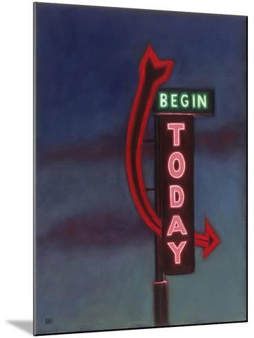 Begin Today, 2009-David Arsenault-Mounted Giclee Print