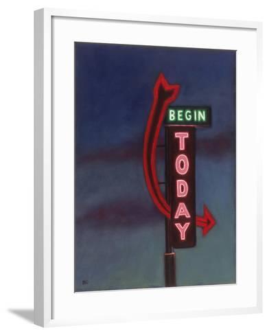 Begin Today, 2009-David Arsenault-Framed Art Print